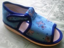 Sandálkové papučky č.27-33 zapínanie na suchý zips, s´botex,27 - 33