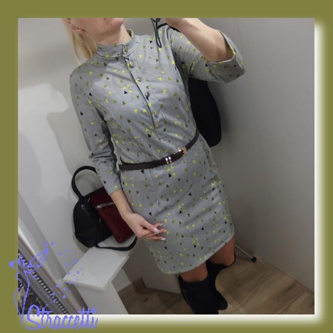 474efb7abe8b Dámske košeľové šaty so vzorom a opaskom
