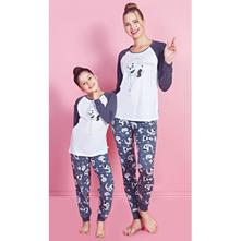 Dámske pyžamo + detské, vienetta kids,134 - 176