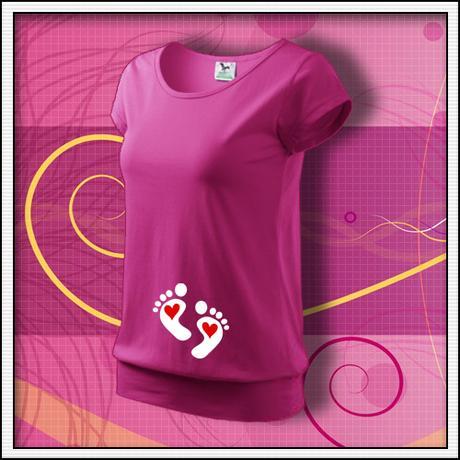 509d88de2032 Nožičky 2 srdiečka - tehotenské tričko s potlačou