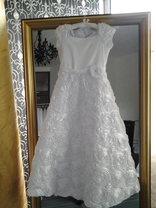 68daa2b4744e Detské šaty na 1.sväté prijímanie a iné príležitosti - Biele šaty s ...