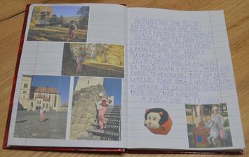 ... záznam do pamätníčka - tentokrát príbeh píšu rodičia a až sa naučia deti písať celú abecedu, tak budú sami tvoriť obsah bez rodičov