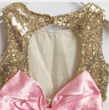 aec674aa5209 Skladom 98 104 110-zlaté flitrované šaty