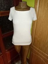 Dámske bavlnené tričko so štruktúrou, h&m,s