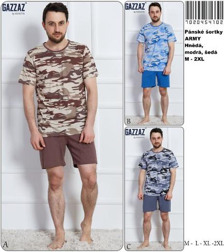 739fe7e72 Pánske bavlnené pyžamo šortky army. , vienetta secret,m - 12,80 € od ...