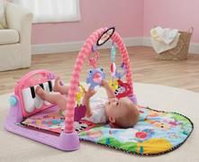 Fischer price detská hracia deka piáno ružová,