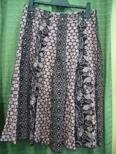 Letna sukňa hnedoružovej farby, 38
