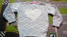 Melirovany pulovrik so srdcom, baby club,92