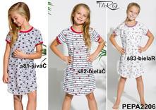 Bavlnená dievčenská nočná košeľa. matylda, 104 - 140