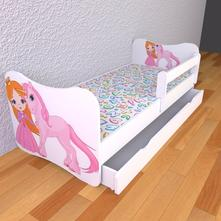 Detská posteľ s odnímateľnými bočnicami jednorožec,