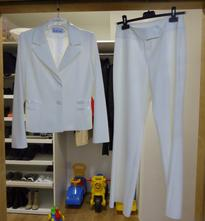 Biely kostym letny, m