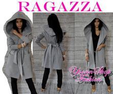 Luxusný dámsky flaušový kabát ragazza, s