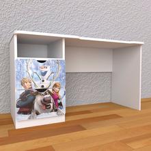 Písací stôl so zásuvkami - frozen,