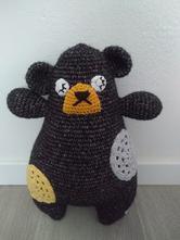 Pillow bear - hackovany macko,