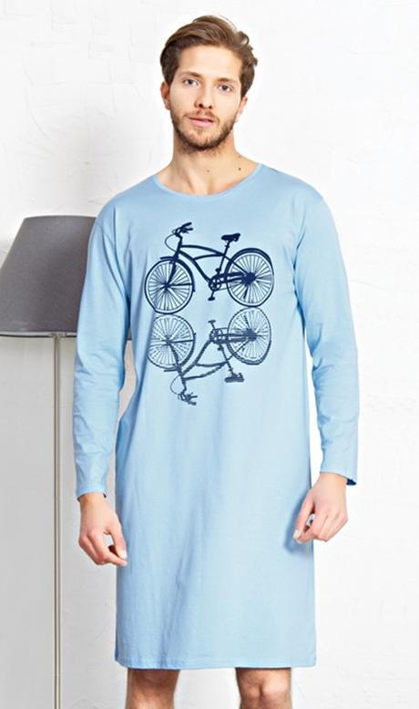 f0e22473dd4d Pánska nočná košeľa velocipéd