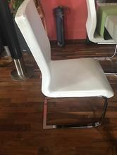 Predám 4x stolička koženková, chrómová noha,