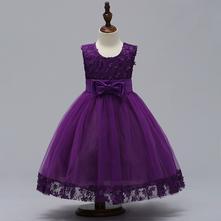 Krásne detské šaty l314 - fialové, 92 - 140