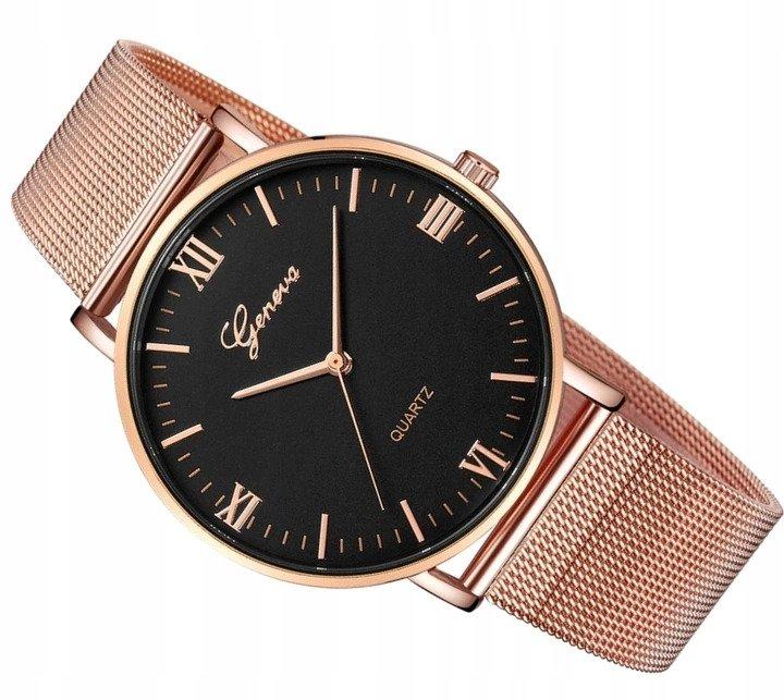 Luxusní dámské hodinky geneva - růžove zlato bc281a4e32