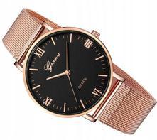 Luxusní dámské hodinky geneva - růžove zlato 26d7ad21d2