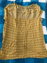 Horčicovo okrove tričko blúzka, benetton,m