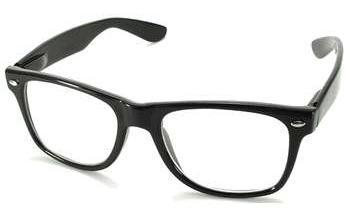 Retro okuliare wayfarer - číre sklá f7b07a4bcda