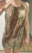 Šaty leopardí vzor,