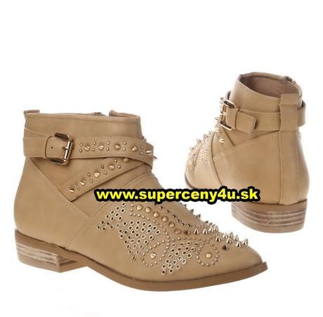 5569768b14 Dámske hnedé členkové topánky
