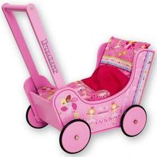 Drevený kočík walky princess pre bábiky ,