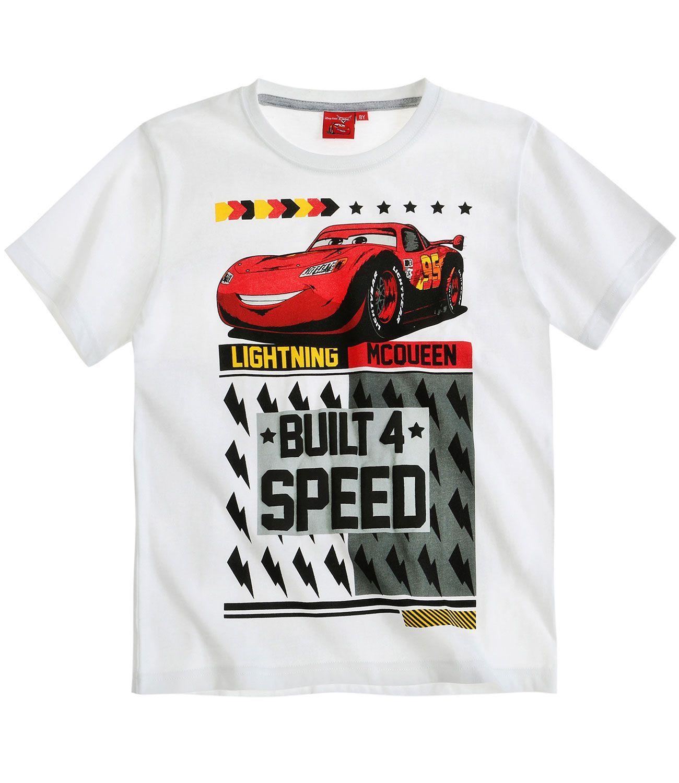 5a39f4d78843 Chlapčenské letné tričko cars biele