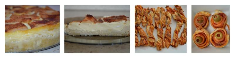 Jablkový koláč s kyslou smotanou,pizza twister a slimáčiky