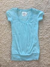 Bledomodré tričko h&m, h&m,s