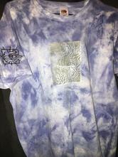 Ručne batikované a odtlačené tričko,