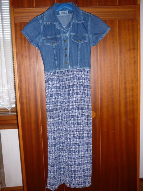 08233a63150b Dlhé letné riflové šaty - cena s poštou