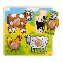 Vkladacie puzzle farma,
