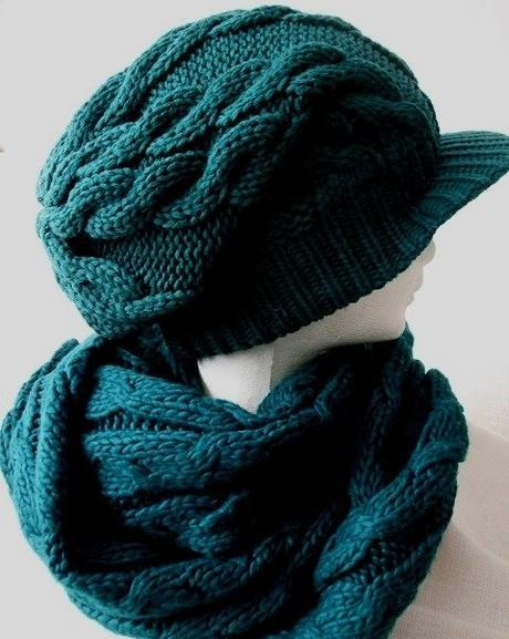 ce6a6c51b Dámsky pletený set - čiapka a šál, 40 - 9 € od predávajúcej ...