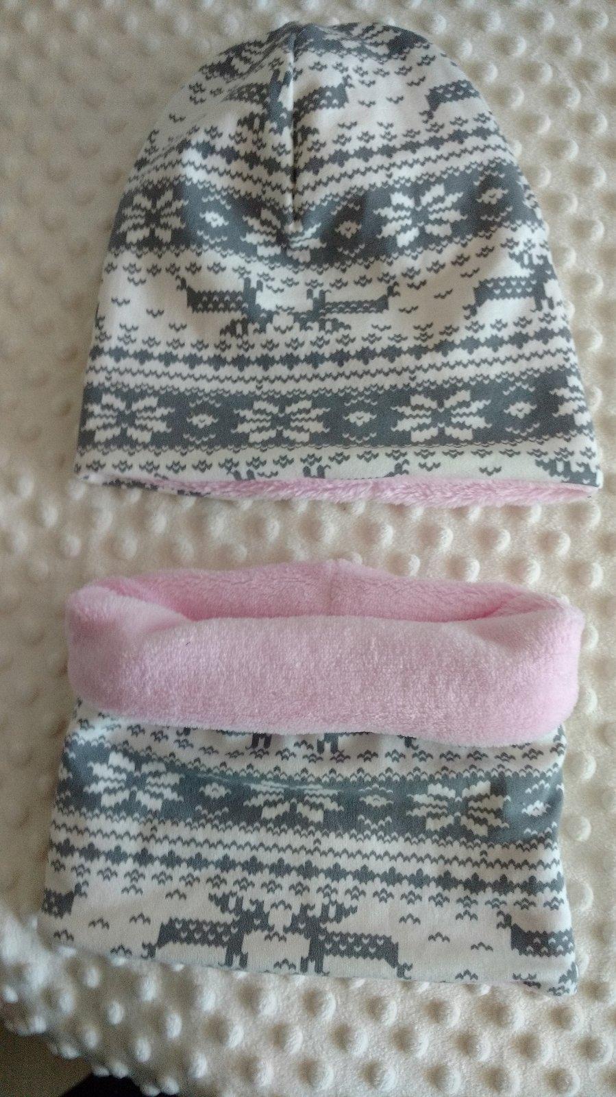 Zimný set čiapka a nákrčník  acfbdba025