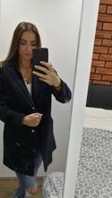 02a919ad32 Tmavomodrý tehotenský kabát