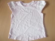 Rzžové tričko s volánikmi, next,86