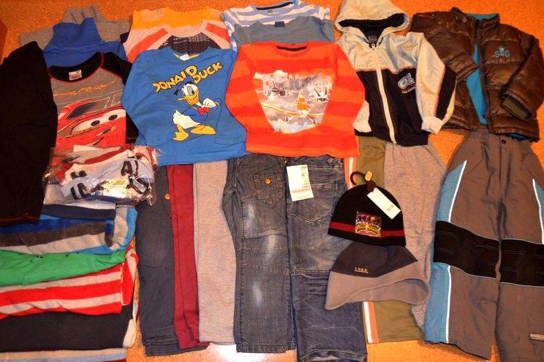 80b33bd52 Maxi balík oblečenia so zimnou bundou chlapec 110 , - 55 € od predávajúcej  juliar | Detský bazár | ModryKonik.sk