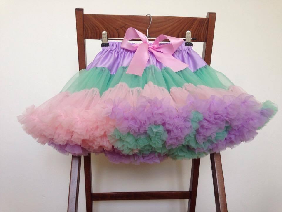 ceb3c58dc296 Rôzne farby pettiskirt dolly tutu nariasená sukňa