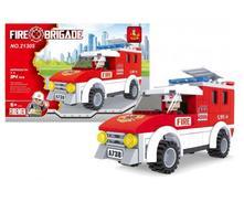 Stavebnica hasiči auto 94ks,