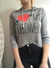 Tenké tričko s kapucňou, m