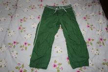 Zelené podšité nohavice h&m 110, h&m,110