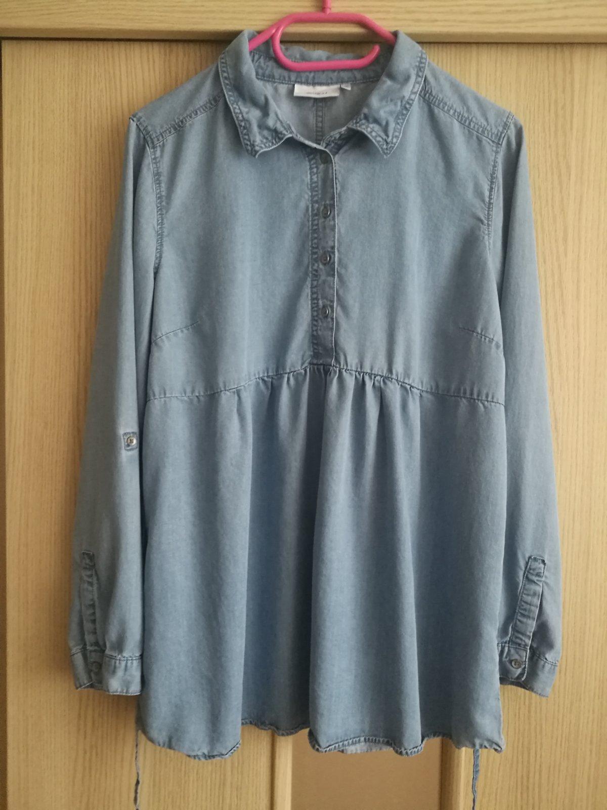 322f0c64315e Tehotenská riflová košeľa