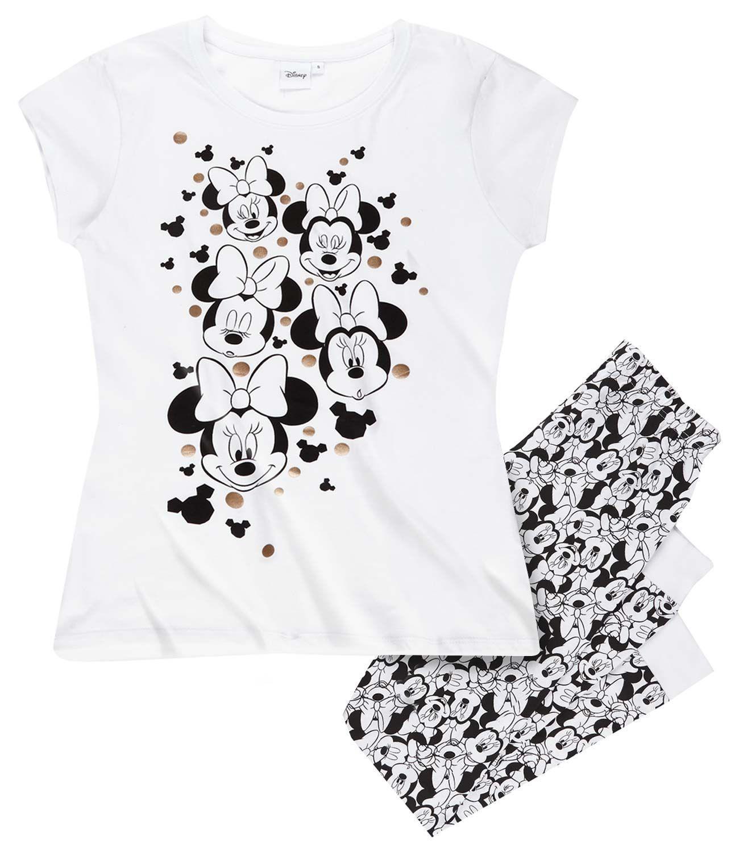 Disney minnie dámske pyžamo biela e0927ef1274