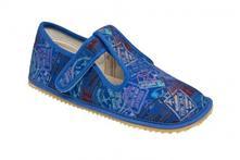 Detské barefoot papuče beda modré, 32 / 33 / 34 / 35