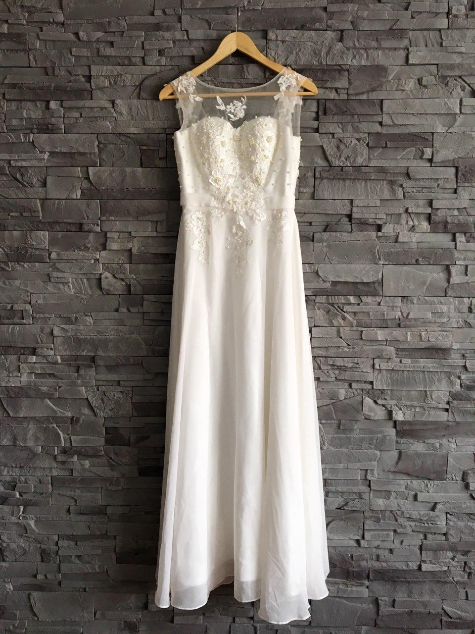 1a9eb5445700 Svadobné šaty vhodné aj pre tehuľky- xs