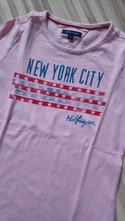 Ružové tričko zn. tommy hilfiger veľ. 116, tommy hilfiger,116