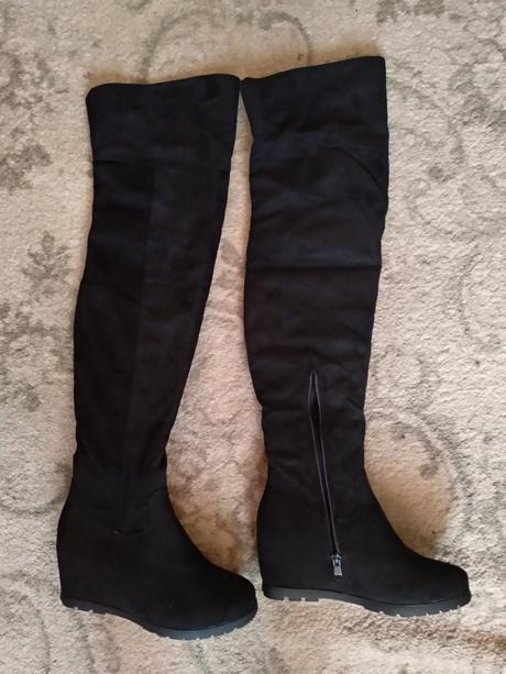 Sexi čierne čižmy nad kolená a76639f3d5d