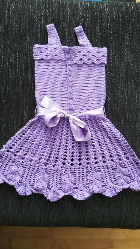 a70941f7830d Háčkované šaty pre dievča